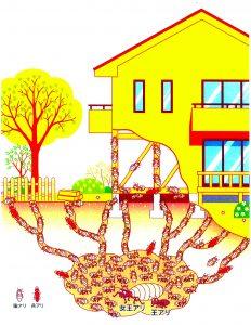 シロアリ巣の様子